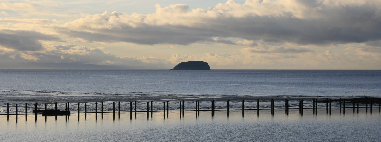 View of Steep Holm from Weston-super-Mare